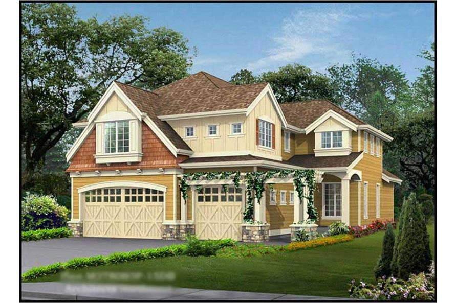 5-Bedroom, 4582 Sq Ft Ranch Home Plan - 115-1213 - Main Exterior