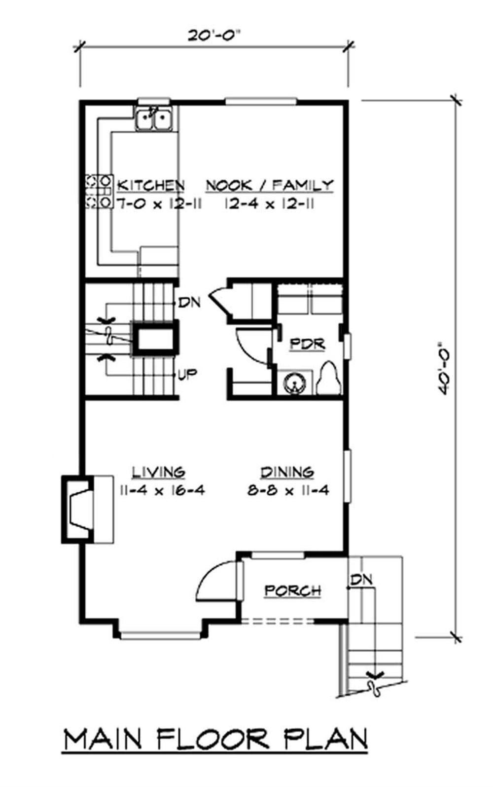 Multi level small home with 4 bedrms 1488 sq ft plan for Multi level home plans