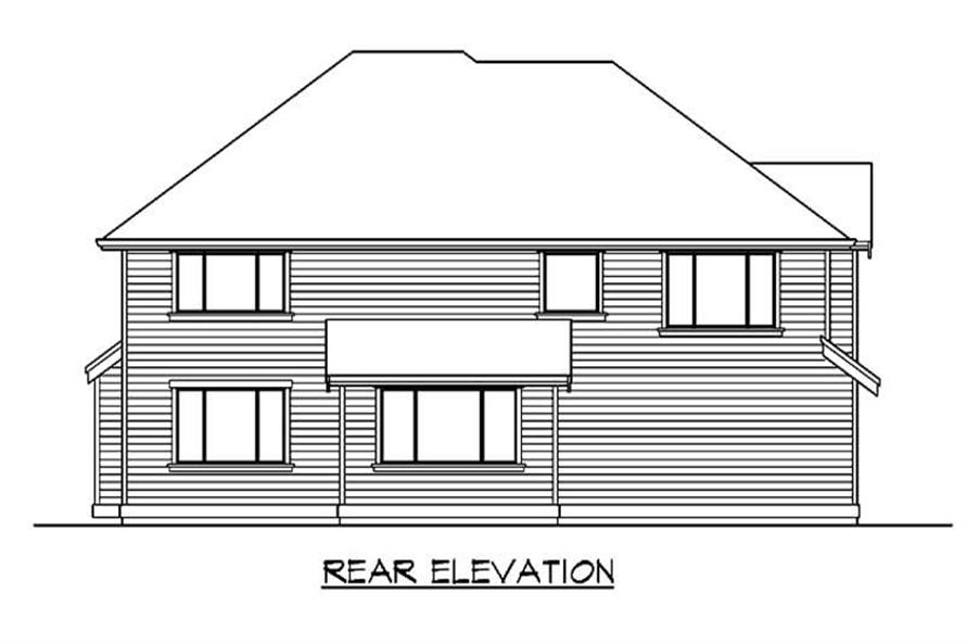 Home Plan Rear Elevation of this 4-Bedroom,3009 Sq Ft Plan -115-1218