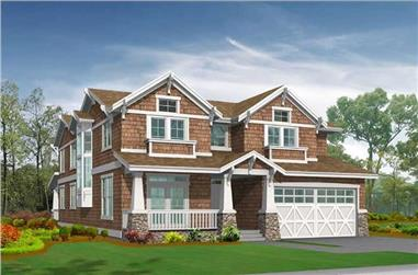 4-Bedroom, 3454 Sq Ft Home Plan - 115-1219 - Main Exterior