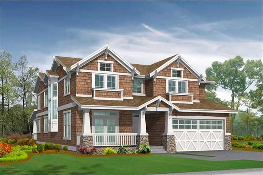 4-Bedroom, 3454 Sq Ft Home Plan - 115-1219 - Main Exterior