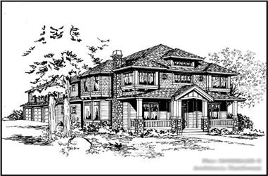 4-Bedroom, 4550 Sq Ft Luxury Home Plan - 115-1222 - Main Exterior