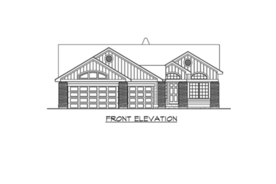 Home Plan Front Elevation of this 3-Bedroom,2135 Sq Ft Plan -115-1224
