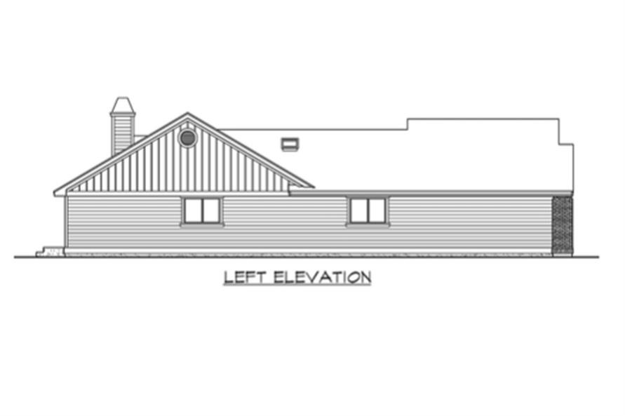 Home Plan Left Elevation of this 3-Bedroom,2135 Sq Ft Plan -115-1224
