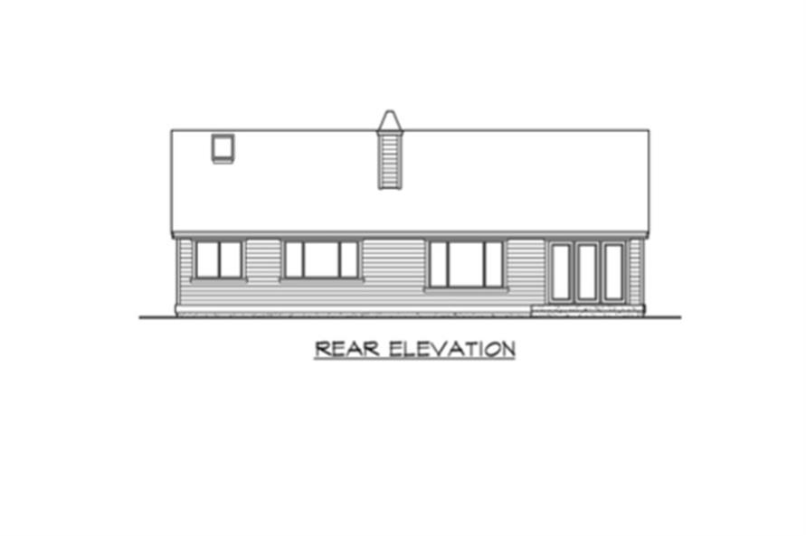 Home Plan Rear Elevation of this 3-Bedroom,2135 Sq Ft Plan -115-1224