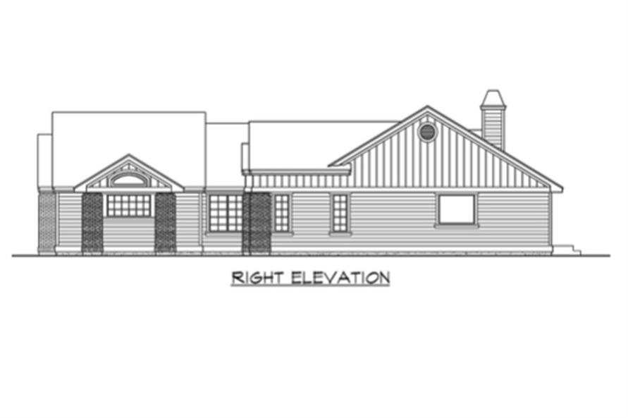 Home Plan Right Elevation of this 3-Bedroom,2135 Sq Ft Plan -115-1224