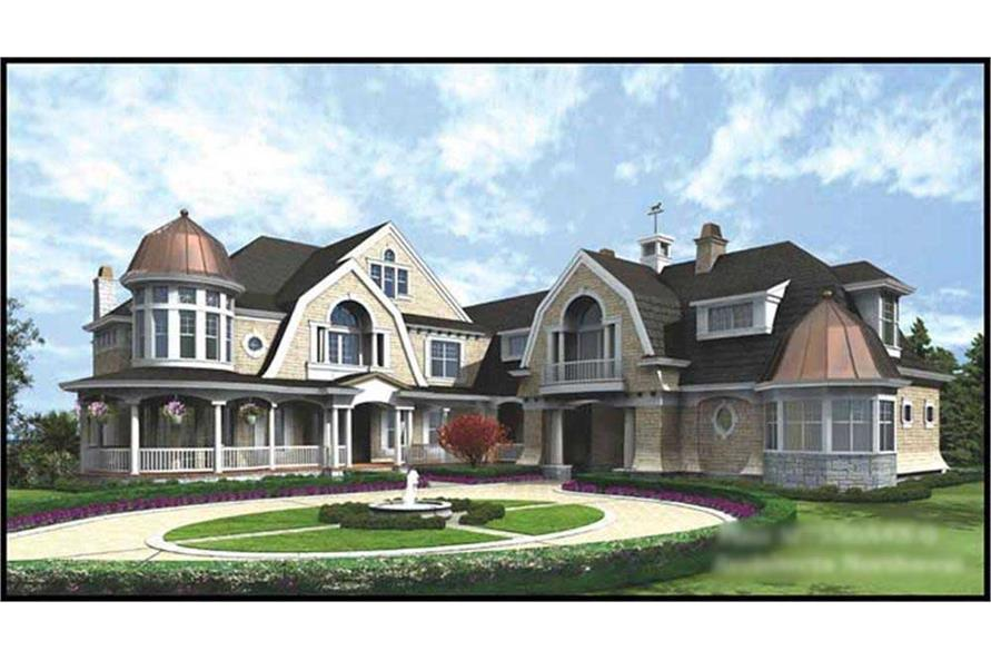 4-Bedroom, 9250 Sq Ft European House Plan - 115-1226 - Front Exterior