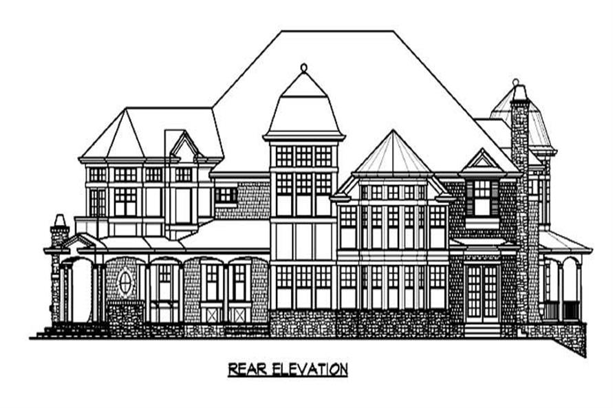 Home Plan Rear Elevation of this 4-Bedroom,9250 Sq Ft Plan -115-1226