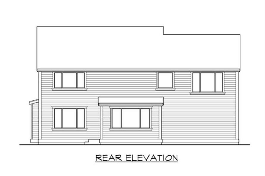 Home Plan Rear Elevation of this 3-Bedroom,2980 Sq Ft Plan -115-1229