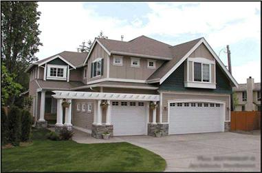 4-Bedroom, 2805 Sq Ft Craftsman Home Plan - 115-1230 - Main Exterior