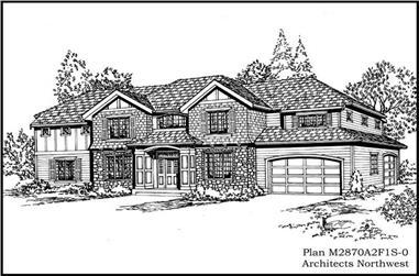 3-Bedroom, 2870 Sq Ft European Home Plan - 115-1233 - Main Exterior