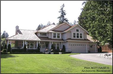 4-Bedroom, 3715 Sq Ft Country House Plan - 115-1235 - Front Exterior
