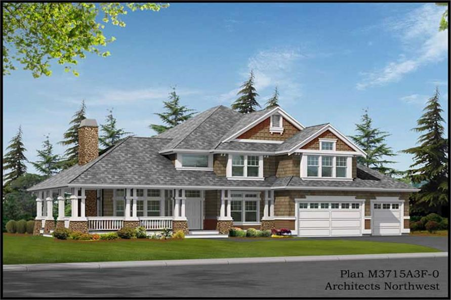Home Exterior Photograph of this 4-Bedroom,3715 Sq Ft Plan -115-1235