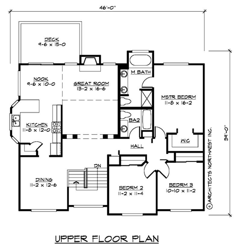 Ranch home with 5 bedrooms 2544 sq ft house plan 115 - Bedroom layout ideas for square rooms ...