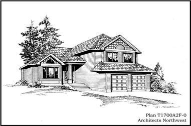 3-Bedroom, 1700 Sq Ft Craftsman Home Plan - 115-1237 - Main Exterior