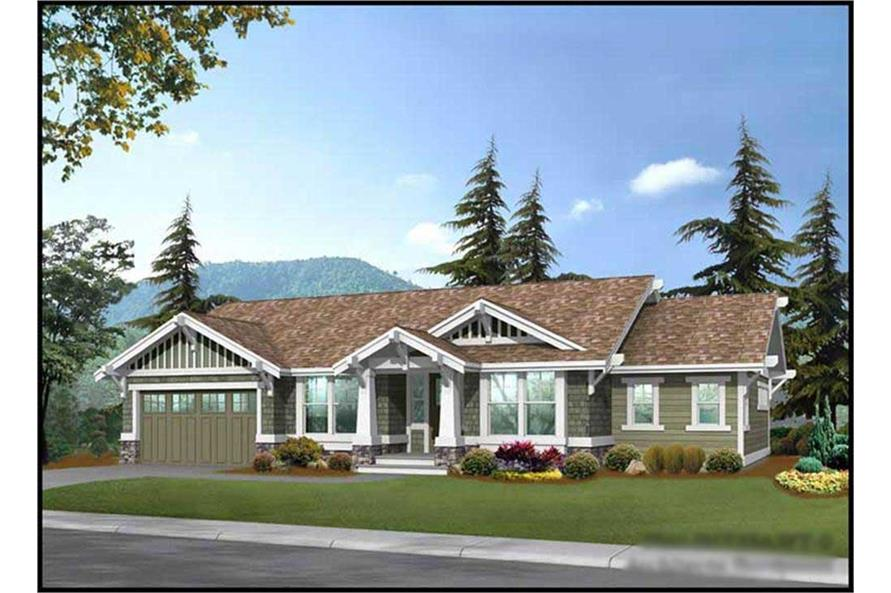 2-Bedroom, 1725 Sq Ft Craftsman House Plan - 115-1238 - Front Exterior