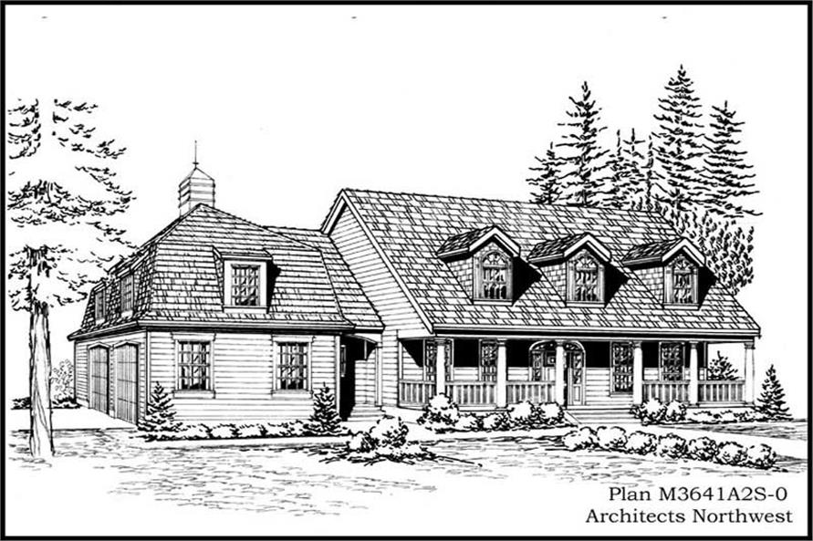 4-Bedroom, 3641 Sq Ft Cape Cod Home Plan - 115-1239 - Main Exterior
