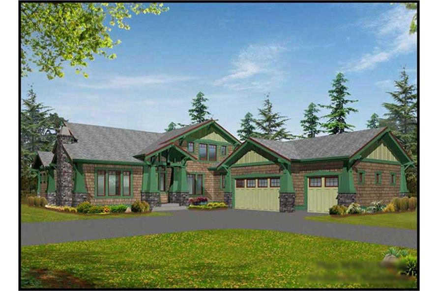 4-Bedroom, 4035 Sq Ft Craftsman Home Plan - 115-1240 - Main Exterior