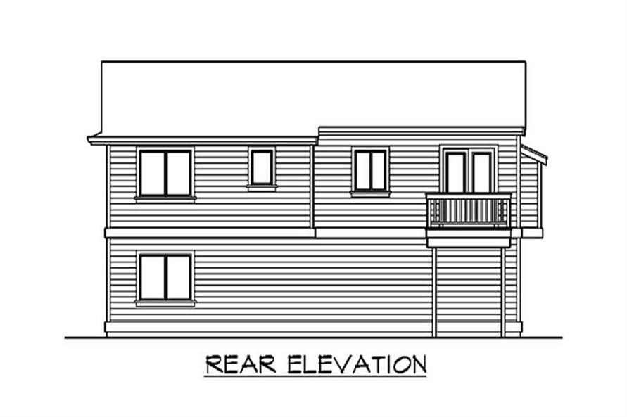 Home Plan Rear Elevation of this 5-Bedroom,1715 Sq Ft Plan -115-1242