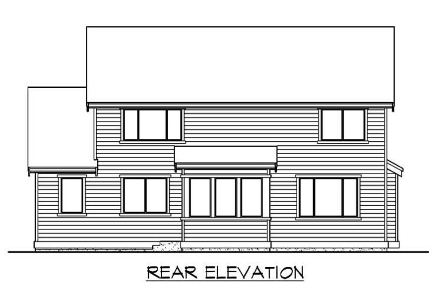 Home Plan Rear Elevation of this 3-Bedroom,2805 Sq Ft Plan -115-1245