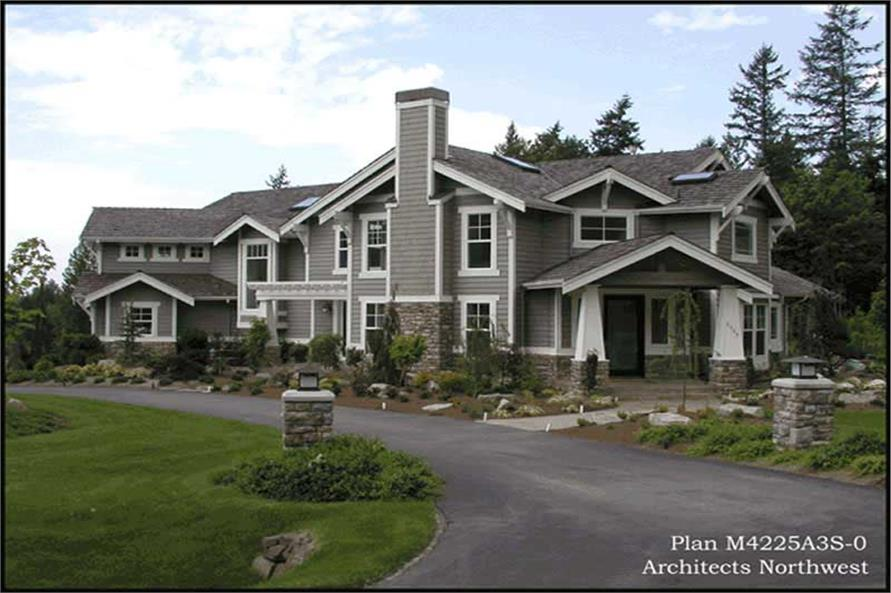 Exterior Photo of this 4-Bedroom,4225 Sq Ft Plan -4225