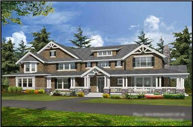 4-Bedroom, 4300 Sq Ft Craftsman House Plan - 115-1247 - Front Exterior