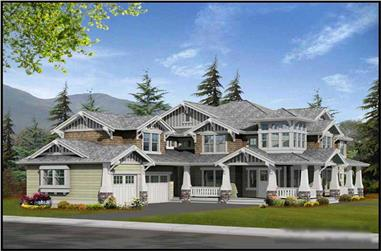 4-Bedroom, 4450 Sq Ft Country Home Plan - 115-1248 - Main Exterior