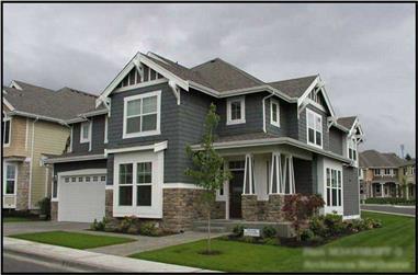 4-Bedroom, 3475 Sq Ft Craftsman House Plan - 115-1249 - Front Exterior