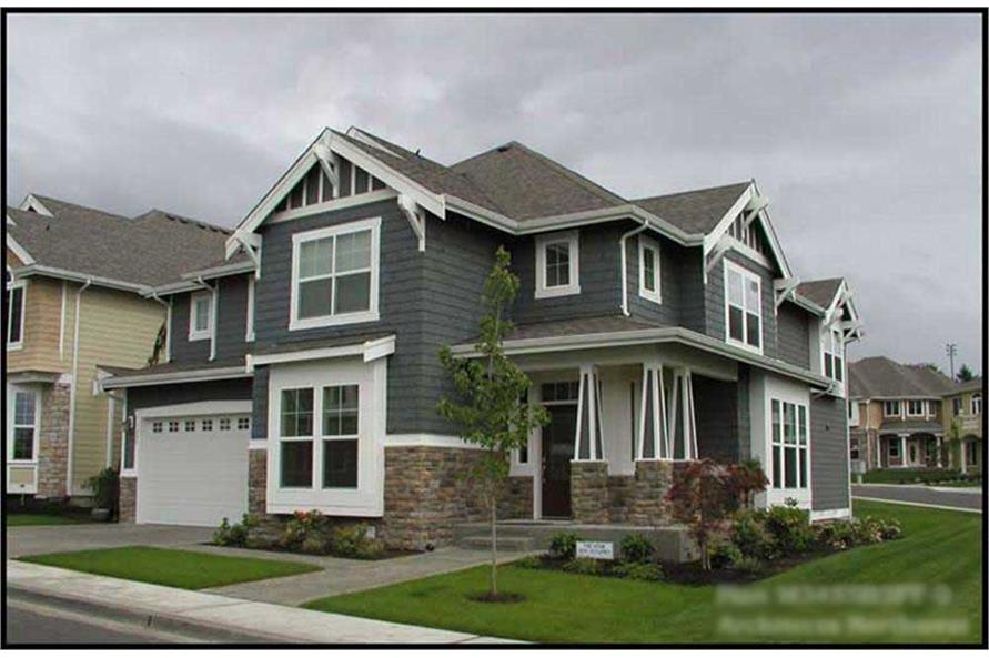 4-Bedroom, 3475 Sq Ft Craftsman House Plan - 115-1249 - Front Exterior