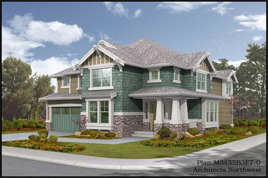 Exterior Photo of this 4-Bedroom,3475 Sq Ft Plan -3475