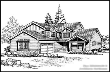 3-Bedroom, 2222 Sq Ft Craftsman House Plan - 115-1252 - Front Exterior