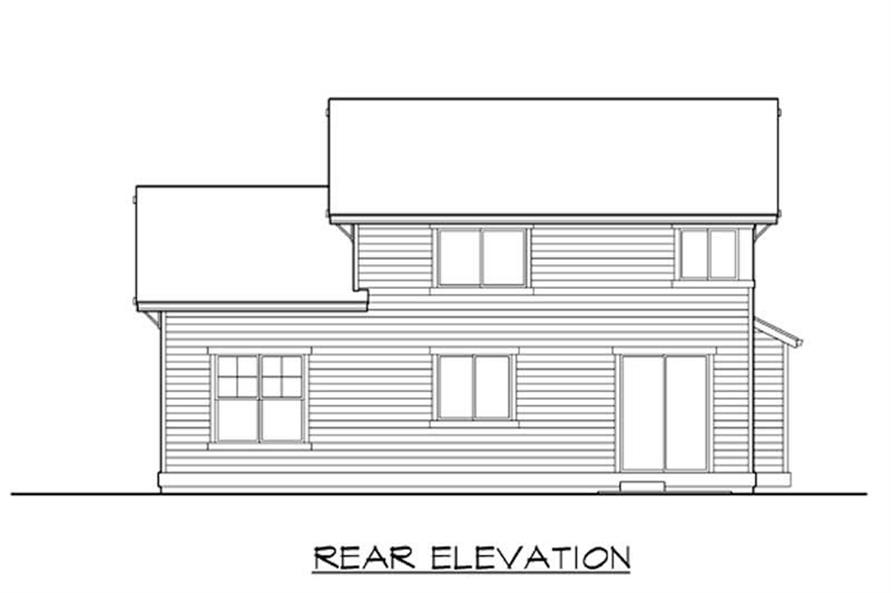 Home Plan Rear Elevation of this 3-Bedroom,2222 Sq Ft Plan -115-1252