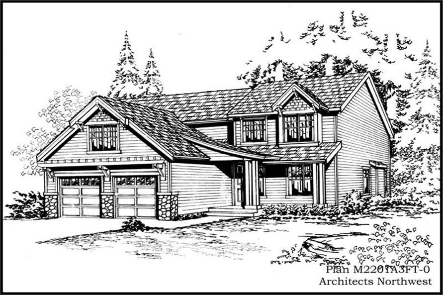 3-Bedroom, 2440 Sq Ft Ranch House Plan - 115-1253 - Front Exterior