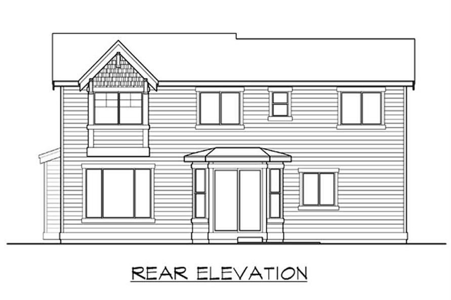Home Plan Rear Elevation of this 3-Bedroom,2440 Sq Ft Plan -115-1253