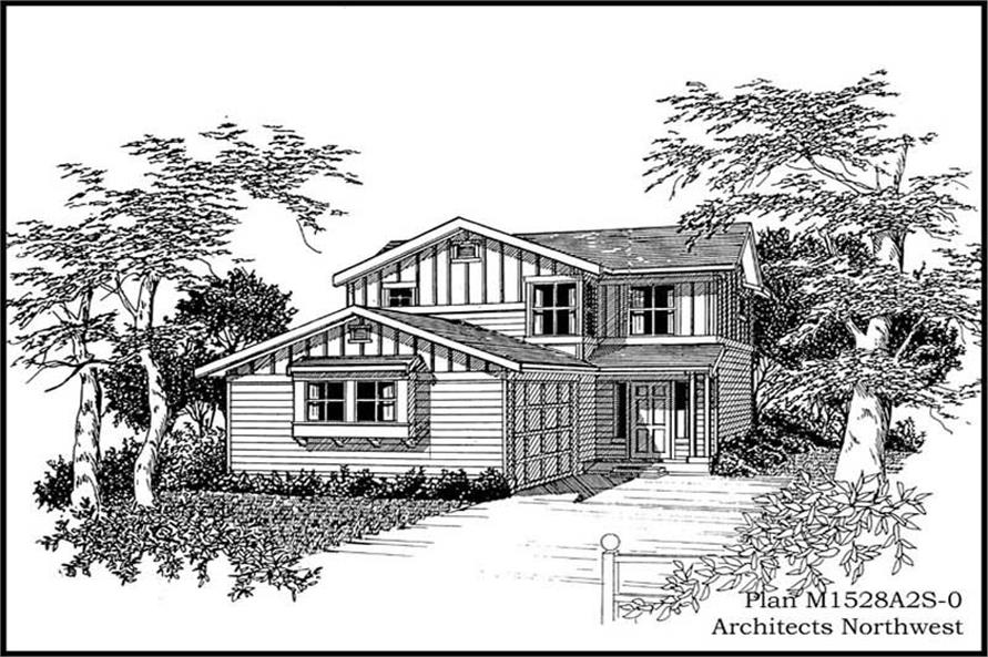 3-Bedroom, 1528 Sq Ft Multi-Level House Plan - 115-1254 - Front Exterior