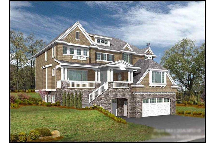 4-Bedroom, 4120 Sq Ft Luxury Home Plan - 115-1255 - Main Exterior