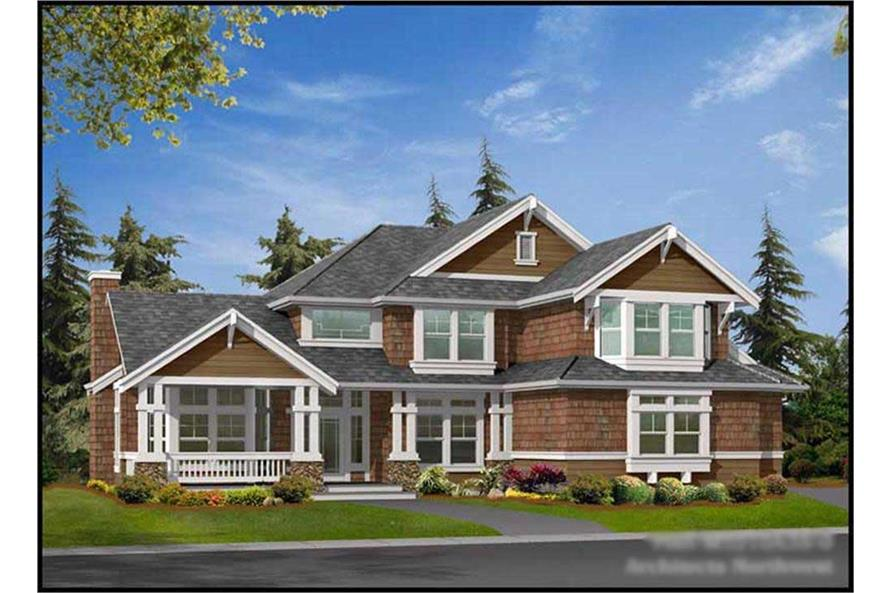 4-Bedroom, 3210 Sq Ft Ranch Home Plan - 115-1259 - Main Exterior