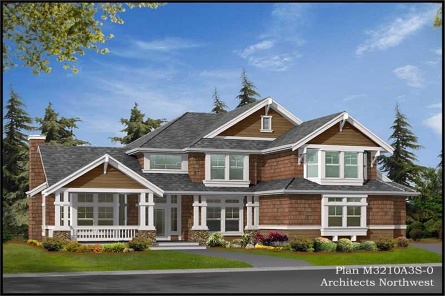 Exterior Photo of this 4-Bedroom,3210 Sq Ft Plan -3210