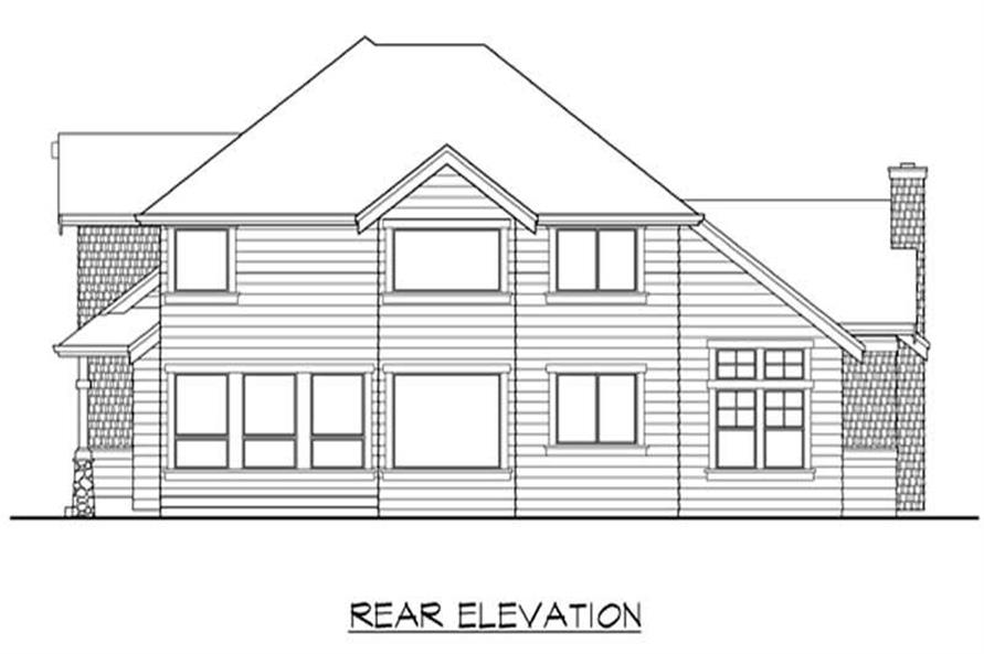Home Plan Rear Elevation of this 4-Bedroom,3210 Sq Ft Plan -115-1259