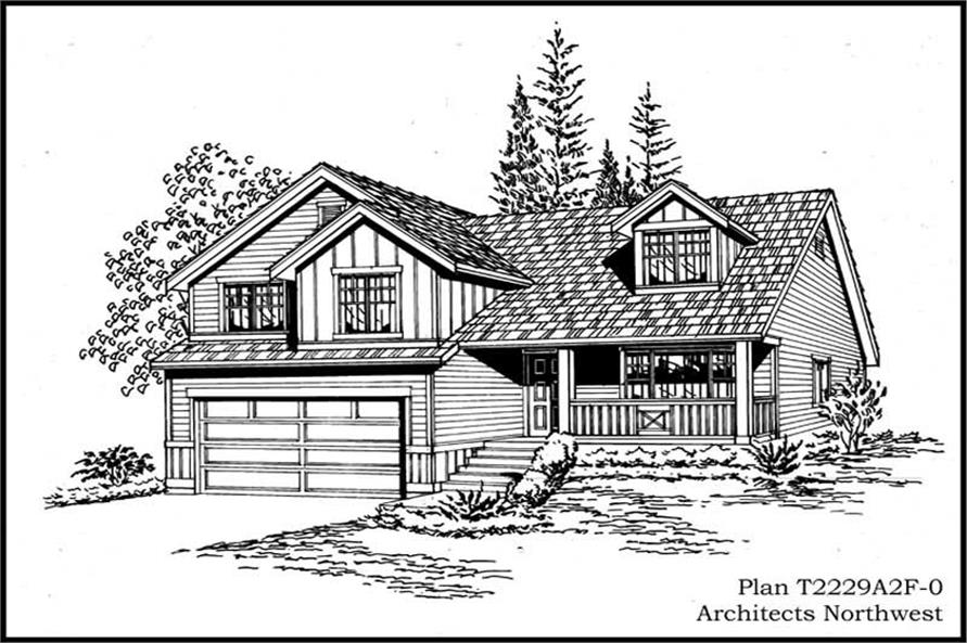 4-Bedroom, 2229 Sq Ft Ranch Home Plan - 115-1262 - Main Exterior