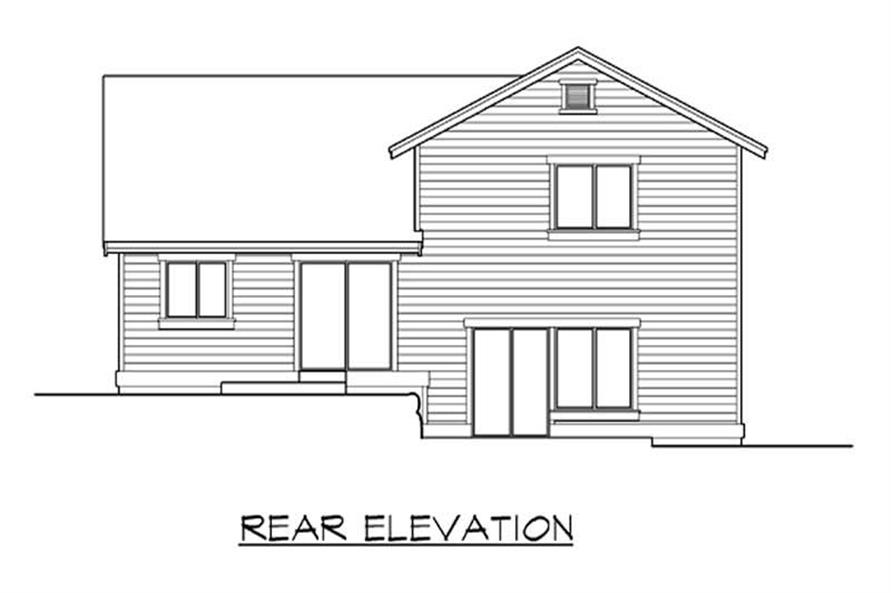 Home Plan Rear Elevation of this 4-Bedroom,2229 Sq Ft Plan -115-1262