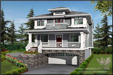 4-Bedroom, 3506 Sq Ft Multi-Level Home Plan - 115-1263 - Main Exterior