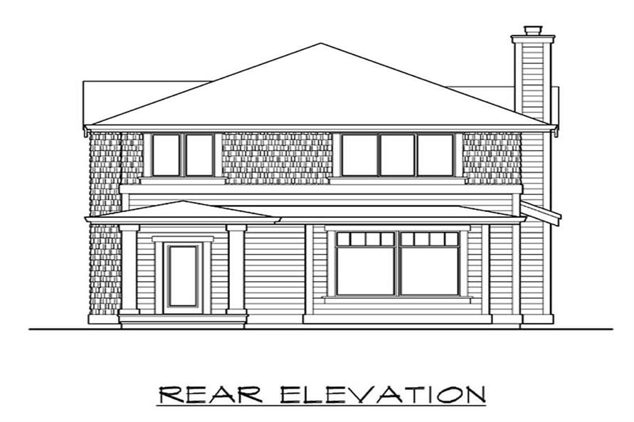 Home Plan Rear Elevation of this 4-Bedroom,3506 Sq Ft Plan -115-1263