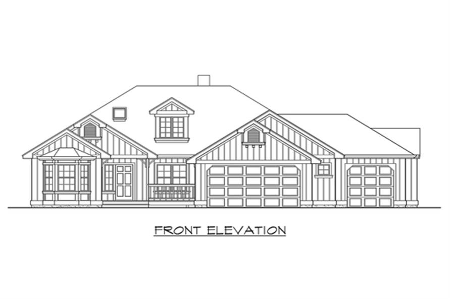 115-1264: Home Plan Front Elevation