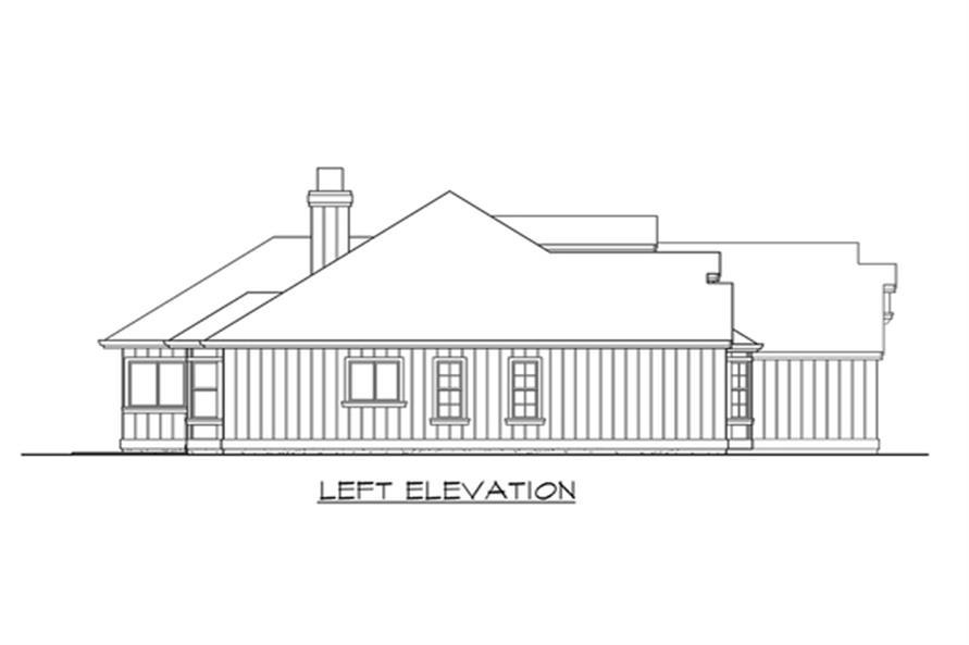 115-1264: Home Plan Left Elevation