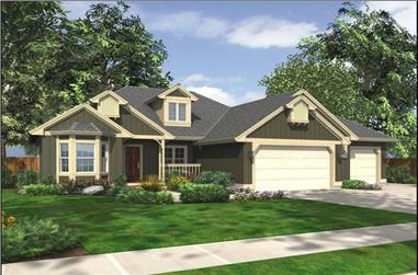 3-Bedroom, 1930 Sq Ft Ranch House Plan - 115-1264 - Front Exterior