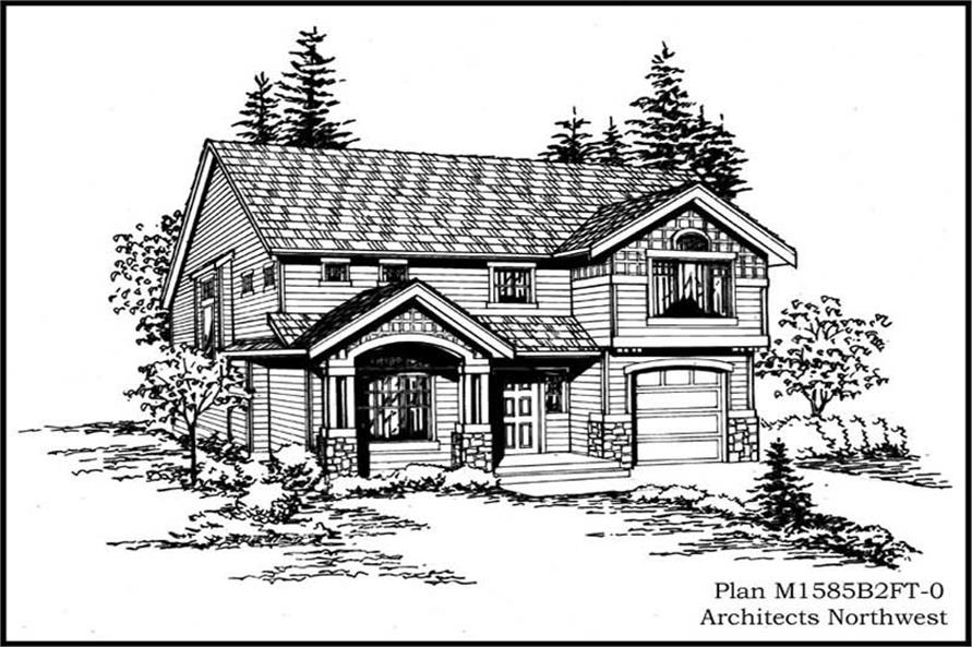 Front Elevation of this 3-Bedroom,1680 Sq Ft Plan -1680