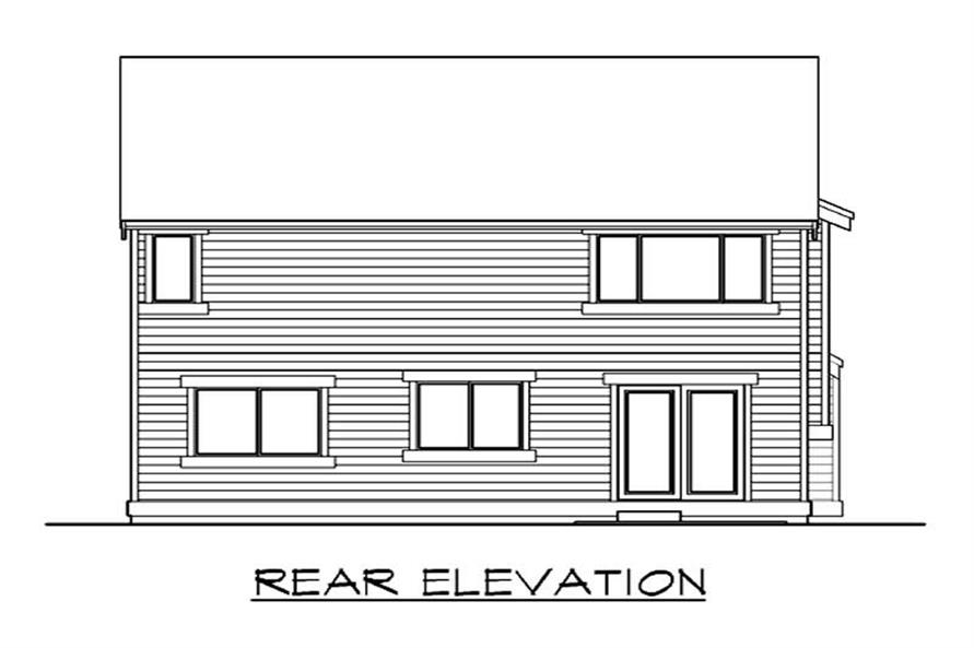 Home Plan Rear Elevation of this 3-Bedroom,1680 Sq Ft Plan -115-1265