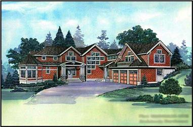 5-Bedroom, 6539 Sq Ft European House Plan - 115-1266 - Front Exterior
