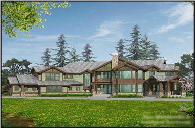 4-Bedroom, 5940 Sq Ft European Home Plan - 115-1267 - Main Exterior